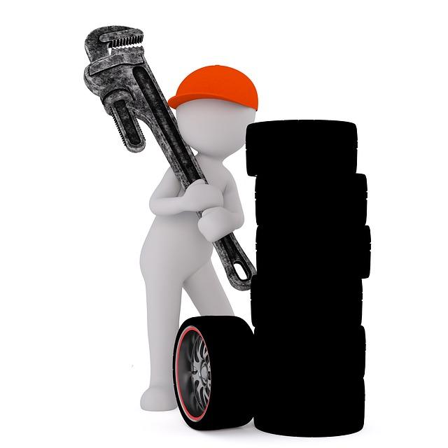 pessoa com pneus